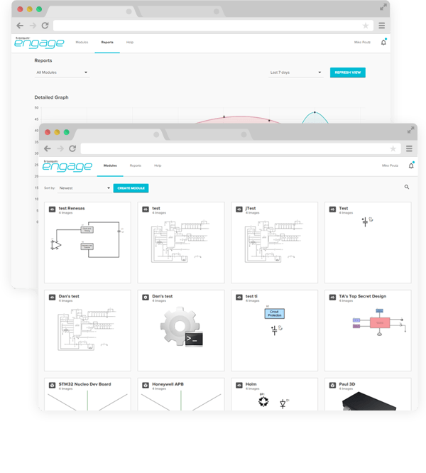 Engage content module tool interface