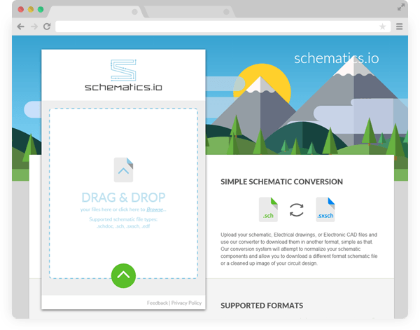 Schematic.io convertion tool interface